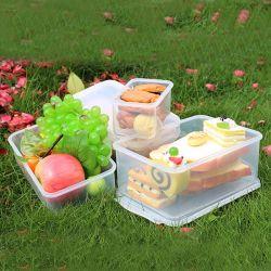 Abono de contêineres de plástico para armazenamento de alimentos com tampa