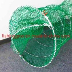 Grüne Farbe PE Knotless Net Noble Fischfalle zum Angeln Werkzeuge