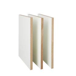 Fábrica de Linyi melamina directo de la placa de MDF de película que se enfrenta el cartón blanco para la decoración del hogar