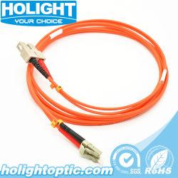 Vezel Optische LC aan DuplexVerbindingsdraad 2m van Sc - Vezel 62.5/125/900