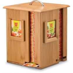 Contenitore di legno Bb-7102 del pacchetto il tè la scatola di di immagazzinamento in dello zucchero del sacchetto delle sezioni di bambù dell'organizzatore 4
