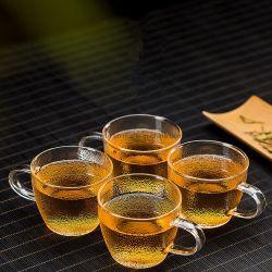 أواني زجاجية في المخزن أكواب شرب رخيصة يدهنك 100 مل ميني كأس زجاج ترويجي للشاي