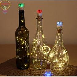 新しく再充電可能なLEDの明るく多彩なワイン・ボトルの帽子のコルクのプラグ
