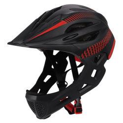 Les enfants casque de vélo PC+EPS dans le moule du casque de vélo de montagne Sports de plein visage des enfants casque de sécurité