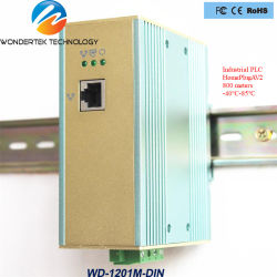 WD-1201m-DIN(T/T4/V3/S/D) mit SPS Powerline Ethernet-Adapter für Industrieschalter