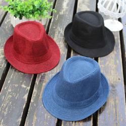 Form-Mischfarben-preiswertes tolles Hut-Polyester/Baumwollkundenspezifischer Fedora-Strohhut