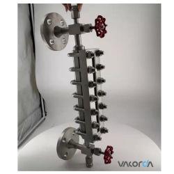 A água da caldeira de vapor mostrador mecânico da placa de vidro com instrumentos de nível de ventilação/Válvula de Drenagem