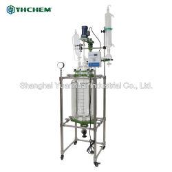 Mengt het Chemische Verwarmen of Koelend Dubbele de Beklede Reactor van het Glas