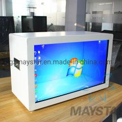 """大型の15 """" ~100 """"半透明なパソコン販売のための透過ガラスLCDのショーケースのタッチ画面のコンピュータのデジタル表示装置LCDスクリーン"""