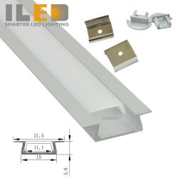 LED de aluminio empotrados canales para la TIRA DE LEDS de 10mm