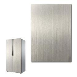 La pellicola d'argento spazzolata del PVC ha laminato la lamiera di acciaio galvanizzata per il frigorifero