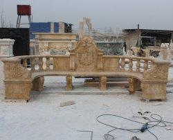 Antike große Outdoor schöne lange Stuhl Marmor Bank (SY-T010)