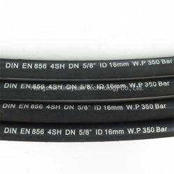 OEM SAE 100 R1 R2 R9 R10 R12 R13 R15 résistant à l'huile hydraulique du flexible en caoutchouc souple