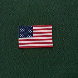 Tecla colorida de borracha de PVC bandeira americana frigobar Ímã 3D frigobar Ímã