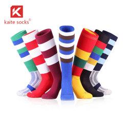 Meias de futebol de futebol infantil OEM adultos Homens Mulheres para venda crianças barato Sport executando Escola Socks Athletic Girl Boy Joelho meias de alta qualidade personalizada