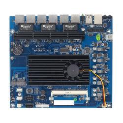 Intel原子のルーターのマザーボード6 LAN