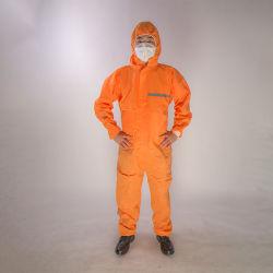 個人用全身電磁放射線保護マイクロポーラス保護スーツディスポーザブル 反射ストリップ付きの化学保護服