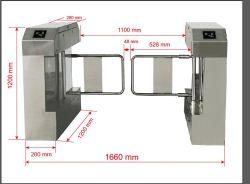 Barrera de la tapa de seguridad, la barrera de la tapa de acrílico de puerta con el brazo con el control de acceso para peatones