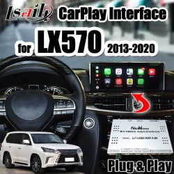 Lexus Lx570 2013-2020 対応カメラ、 Youtue 、 WiFi 、 Lsert による USB 用 CarPlay/Android Auto Interface