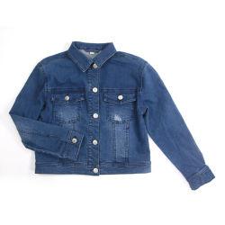 2020 패션 고래 의류 Vintage Blue Jean Denim Jacket for 걸레 레저 장 폴로 칼라 데님 진