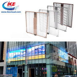 مؤشرات LED كبيرة ذات سطوع عالٍ في الأماكن المفتوحة لإنشاء مؤشر LED للإعلان جدار الستار عن الشاشة