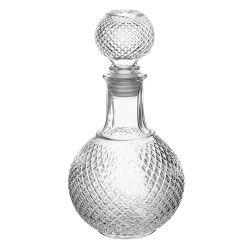 Cristal gafas de moda personalizada botella de whisky en granel decantador para regalo botella de whisky