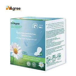 Fragrance-Free ultra dünne organische Baumwollgesundheitliche Auflage mit Flügeln