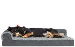 Fabrico à prova de água quente antiderrapagem cão de estimação de velo polar suaves em espuma de memória de cama cama dormir para cães