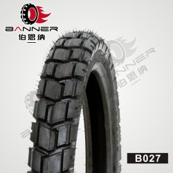 20 ans ISO9001 tout-terrain de gros d'usine de moteur/moto/moto/Tube Tubeless Dirt Bike Scooter ATV Mrf Pneu en caoutchouc des pneus 3.00-18/B027