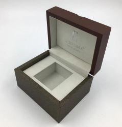 プライベートラベルあなた自身のロゴ木製ストラップのワニパターン革腕時計の卸売木の腕時計によってカスタマイズされるボックス