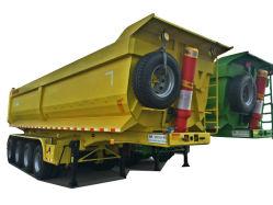 트레일러 덤프 팁 주는 사람 트레일러 대형 트럭 트레일러를 기울이는 3개의 차축 덤프 트레일러