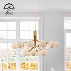 Restaurante moderno Multiple-Glass Iluminación lámpara de araña de cristal con soporte E27