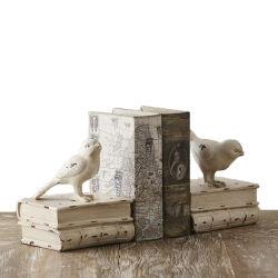 Творческие Vintage птиц книги Bookends старинной полочные поверхности стола для тяжелого режима работы Bookend поддержки настольных украшения