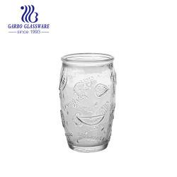 280ml maakte de Gegraveerde het Drinken van het Water Fles van het Glas van het Ontwerp van de Fles van het Glas Unieke voor het Gebruik van het Hotel van het Huis met Goedkope Pricegb46220280sg in reliëf