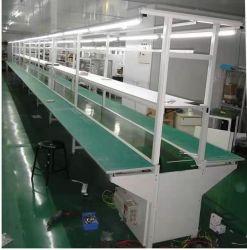 産業用組立ライン緑色 PVC ベルトコンベア材料ハンドリング装置