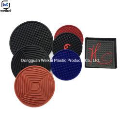 Tapete de aquecimento de água quente personalizado durável flexíveis e resistentes ao calor Tapete Copos Quentes Bebida de Silicone Coasters Definir Montanha Russa de Silicone