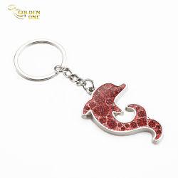Omaggio promozionale Logo in morbido smalto con glitter e dophin animal cute personalizzato Portachiavi portachiavi in lega di zinco con portachiavi in metallo ricordo