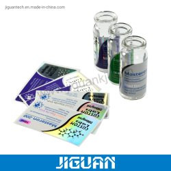Kundenspezifisches Hologramm-beschriftet medizinische Kennsatz-Flasche des Drucken-Aufkleber-Phiole-Kennsatz-10ml Hologramm pharmazeutische Phiole-Kennsätze des Steroid-10ml für Prüfung Cypionate