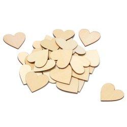 Bricolaje madera inacabada boda Libro de corazón para la decoración de boda