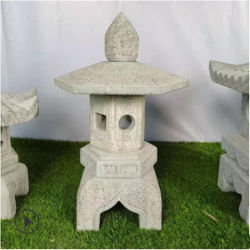 Pierre sculpture Stone Lamp Park Garden Bluestone Antique Stone Lamp Artisanat Temple Japonais solaire Pierre Lamp ornements