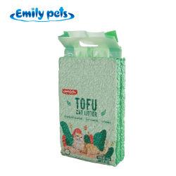 En bonne santé de haute qualité facile à nettoyer le Pet Produit Prix de gros de l'eau soluble dans l'usine de tofu agglomérante la litière pour chat