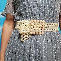 Taillen-Riemen-schnallt elastische Ausdehnungs-Frauen-Raupe-Perle des eleganten Kleid-Lb3541 2020 Form-Dame-Bund um