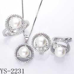 工場卸売925の純銀製の女性のためにセットされる模造真珠の宝石類