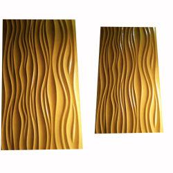 Padrão de onda de MDF em relevo pintura painéis de parede a parede de Arte do Painel de bordo