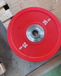 피트니스 주물: 올림픽 컬러의 25kg Barbell용 그립 플레이트 역도 방진 크로스슬링용 단일 및 쌍 범퍼 플레이트