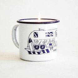 [ولّ سلّر] عالة يصعد علامة تجاريّة طباعة [فرويت وين] بودنغ معينة عينة مينا فنجان مع شمعة