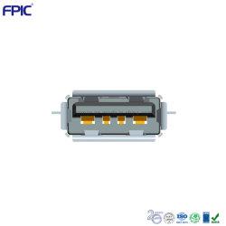 Spina di derivazione del caricatore di potere di Af SMT Af del connettore 2.0 del USB Jack