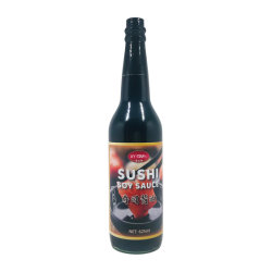 Bouteille de verre 625ml OEM Halal sushi japonais de trempage savoureuse sauce de soja