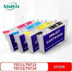 Compatible Epson T0711, T0712 T0713 T0714 Cartouche d'encre pour Epsonstylusd78 D92 D120 DX4000 dx4050 dx4400 dx4450 dx5000 dx5050 dx6050 dx6000 dx7000 dx7400