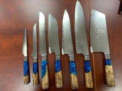 Damaskus-Stahl-Küche-Messer-Tischbesteck gesetztes Jdh1019 der Qualitäts-67layer
